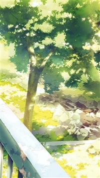 Anime Background Art Illust Forest iPhone 5s wallpaper