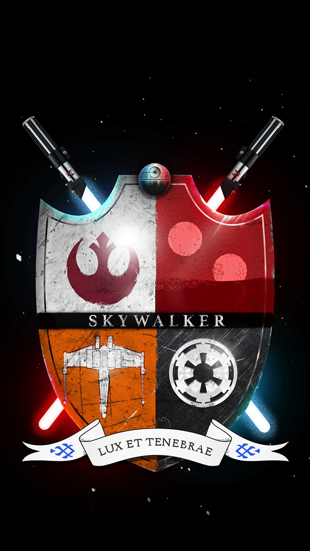 Star Wars Family Crest Skywalker Light And Darkness Iphone Wallpapers Free Download