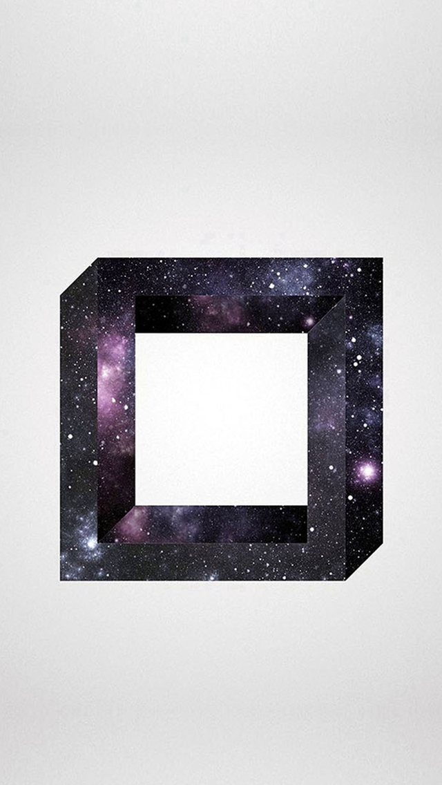 Abstract Square Space Art iPhone wallpaper