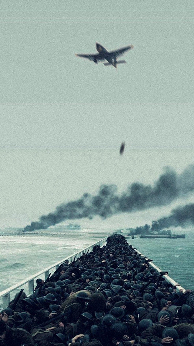Film War Dunkirk Boat Ship Illustration Art iPhone wallpaper