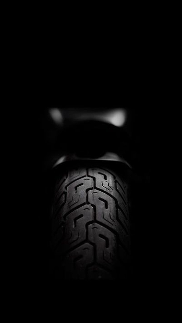 Motorcycle Rear Tire Dark iPhone wallpaper