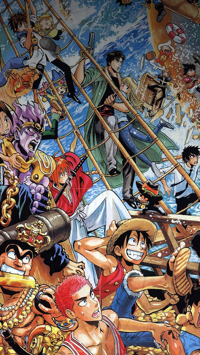 One Piece All The Fun Comics Illust iPhone wallpaper