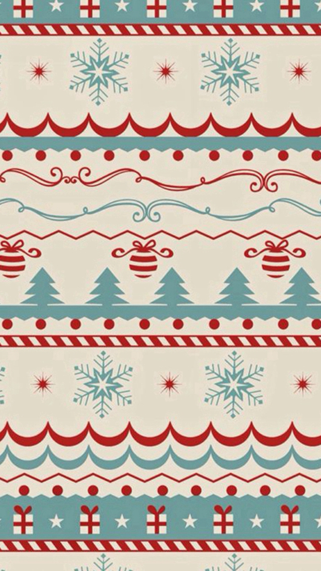 Christmas Sweater Texture iPhone wallpaper