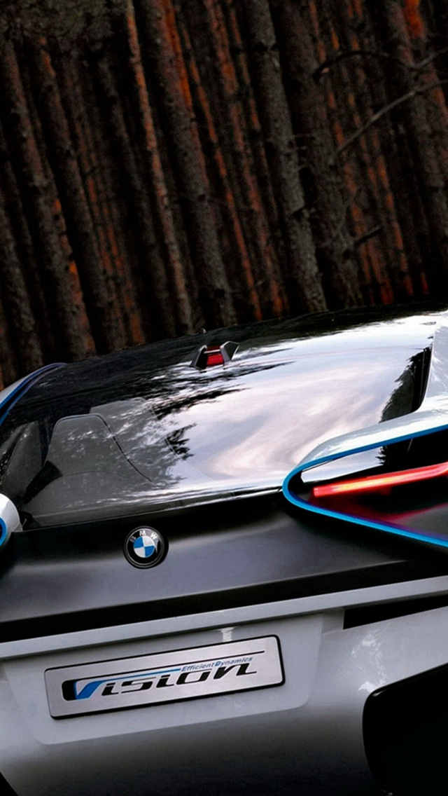 BMW Concept Car Rear View iPhone wallpaper