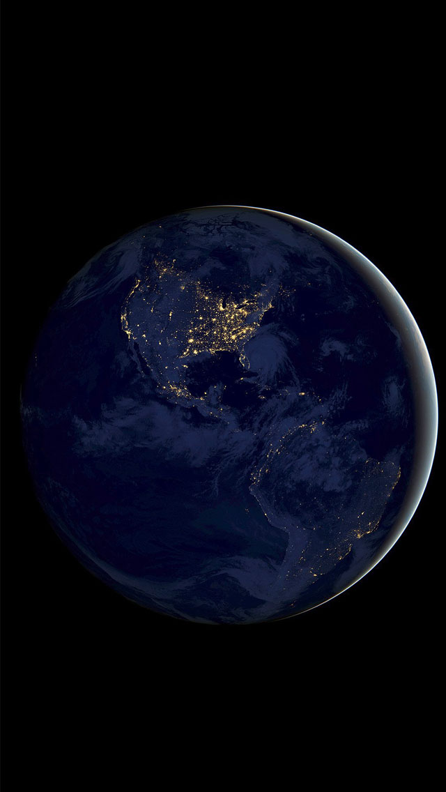 Earth space dark night art iPhone wallpaper