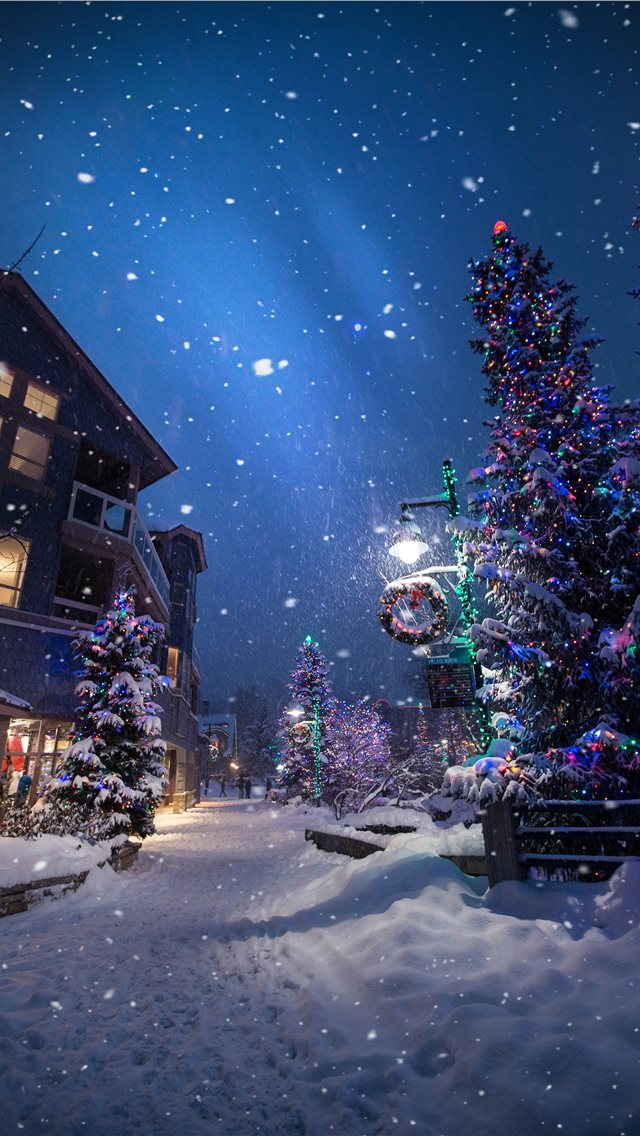 Magic in the Whistler Village iPhone wallpaper