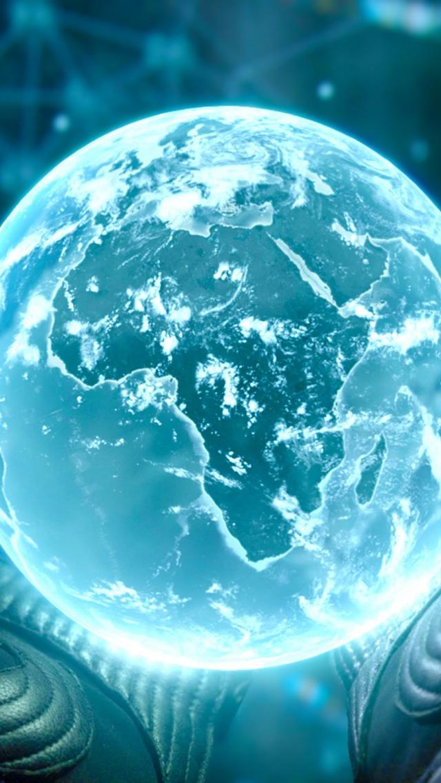Prometheus Earth iPhone wallpaper