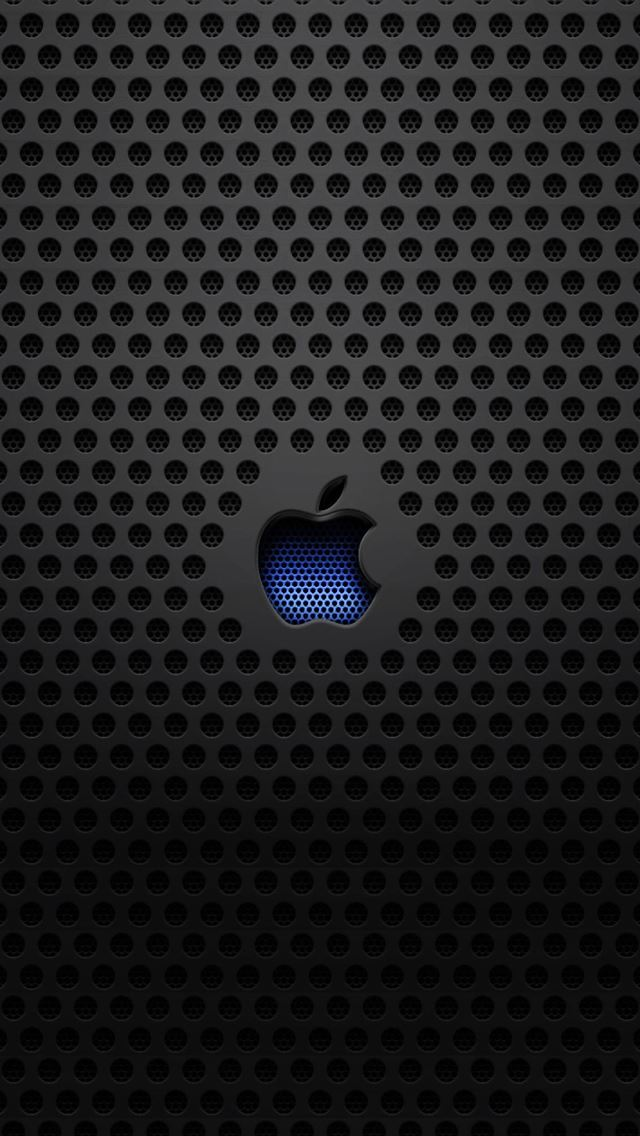 Apple Logo Metal Texture iPhone wallpaper