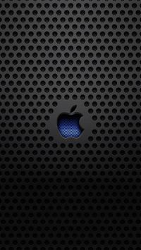 Apple Logo Metal Texture iPhone 5s wallpaper