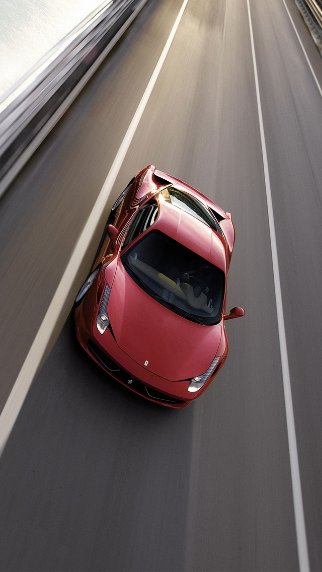 Ferrari 458 iPhone wallpaper