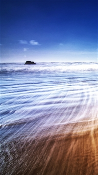 Beach Waves iPhone 5s wallpaper