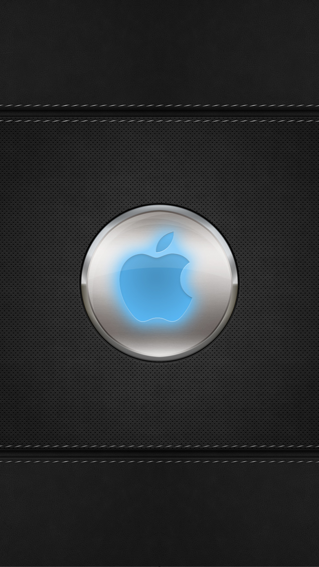 Blue Glow Apple Logo Iphone Wallpapers Free Download