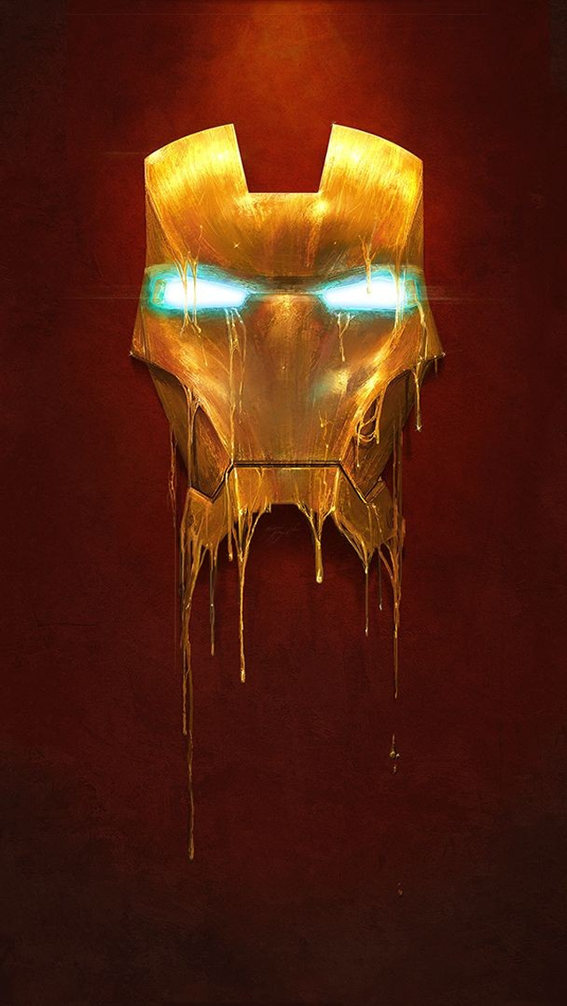 Iron Man Mask iPhone wallpaper