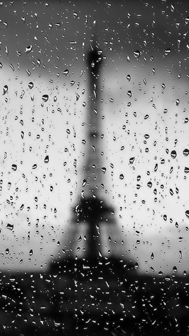 Rainy Paris iPhone wallpaper