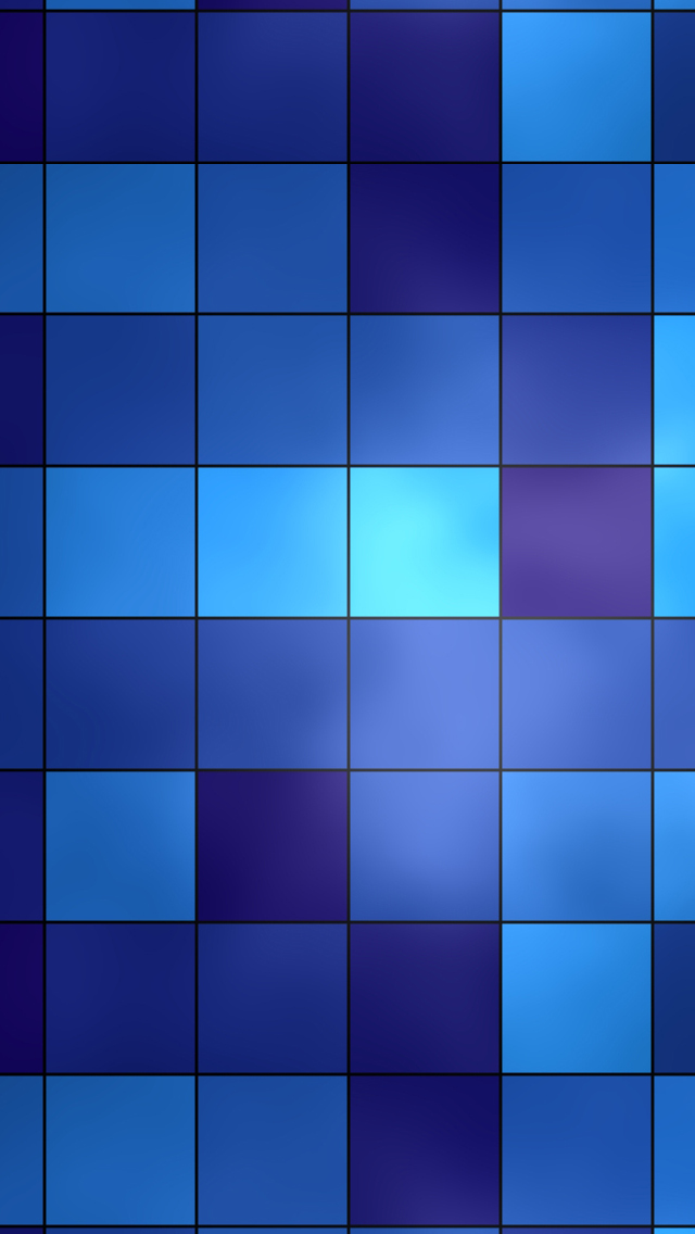 Blue Grid iPhone wallpaper