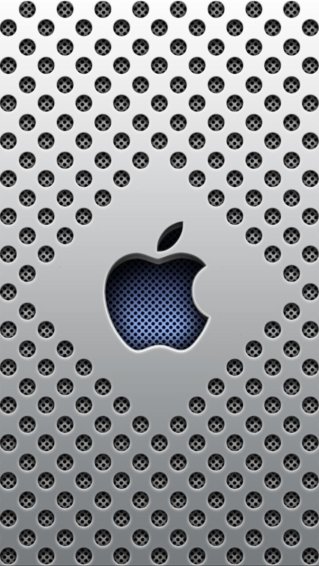 Silver Dots Apple Logo iPhone wallpaper