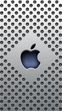Silver Dots Apple Logo iPhone 5s wallpaper