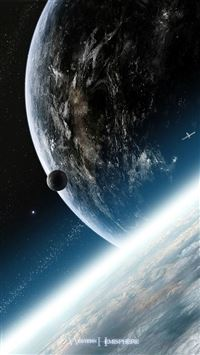 Planets Earth iPhone 5s wallpaper