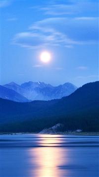 Blue Sunrise iPhone 5s wallpaper