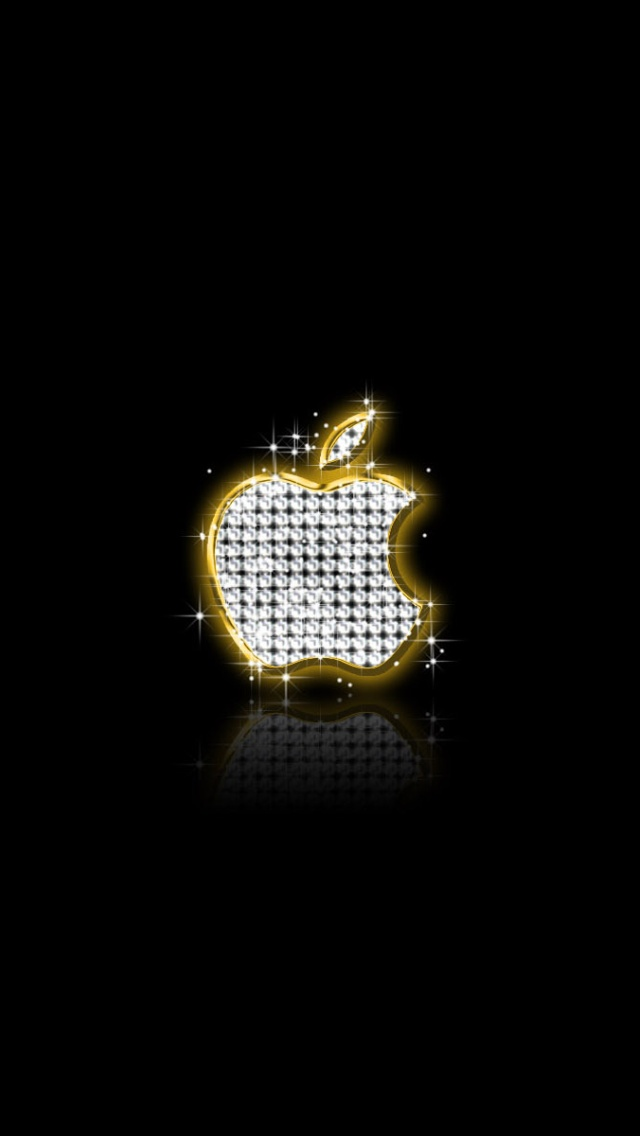 Diamond Apple Logo iPhone wallpaper