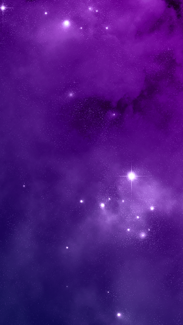 Purple Night Sky iPhone wallpaper