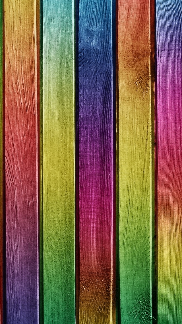 Colorful Wood iPhone wallpaper
