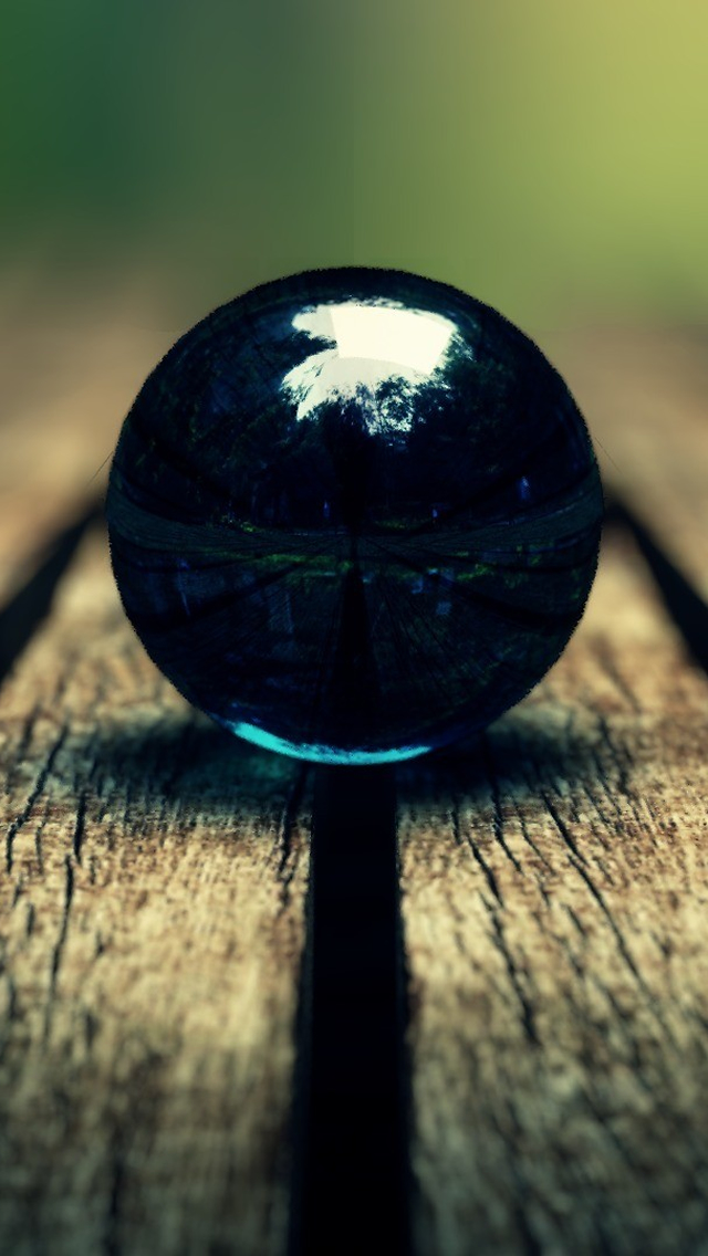 Grasses Ball on Wood iPhone wallpaper