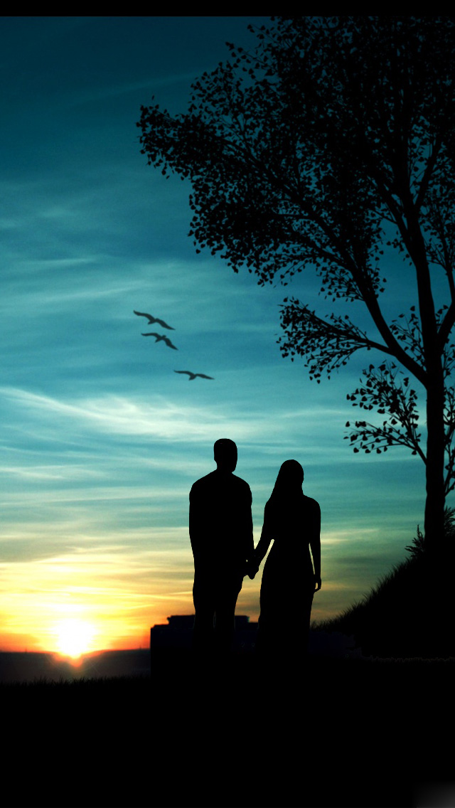 Romantic Sunset iPhone wallpaper