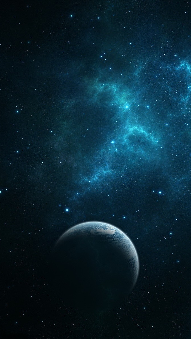 Dark Blue Space iphone wallpaper ilikewallpaper com