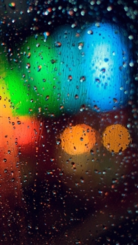Colorful Rainy Grass iPhone 5s wallpaper