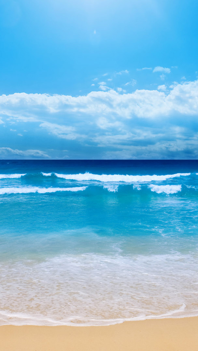 Blue Beach iPhone wallpaper