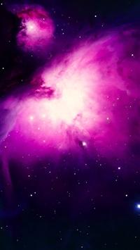 Stars on Purple Space iPhone 5s wallpaper