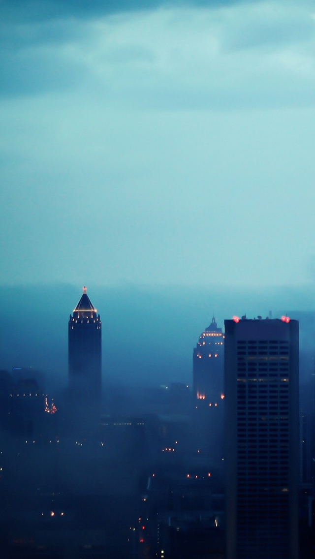 Atlanta in Fog iPhone wallpaper