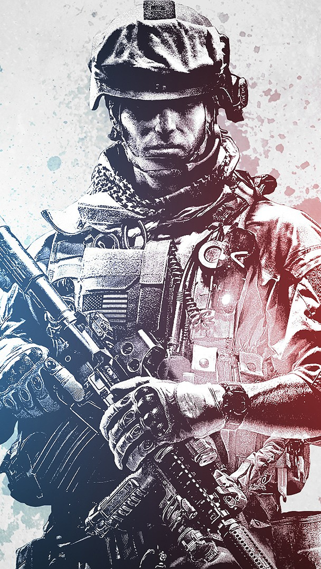 Battlefield 3 Soldier iPhone wallpaper