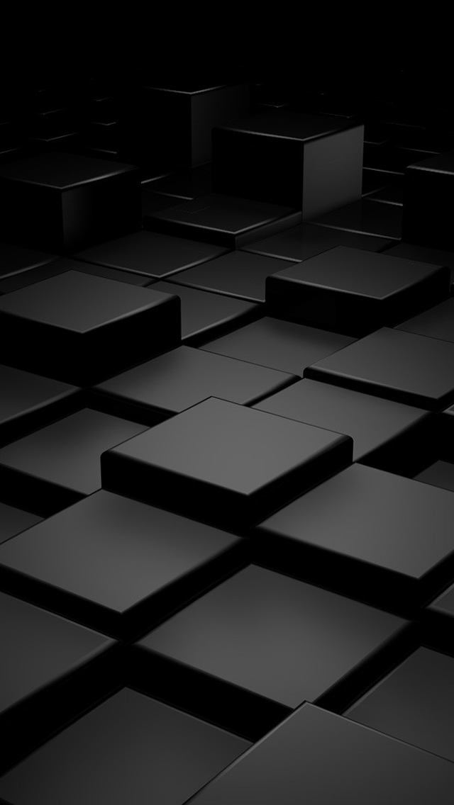 Black 3D Blocks iPhone wallpaper