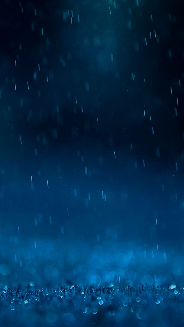 Blue Rain Iphone Wallpapers Free Download