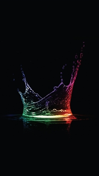 Colorful Water Drops iPhone 5s wallpaper