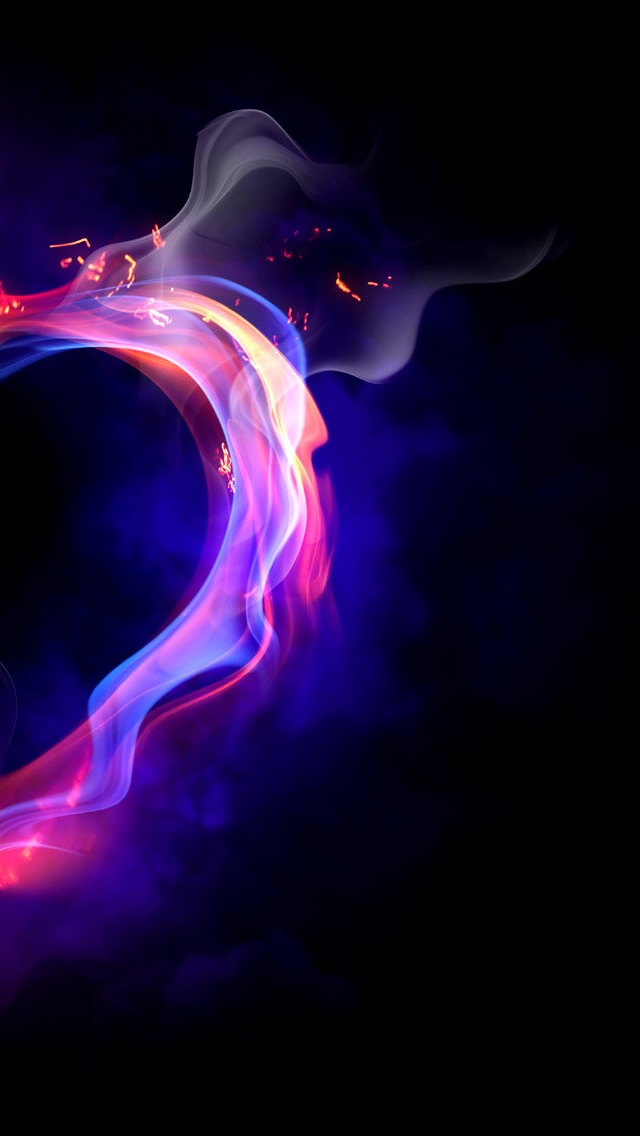 Fire Heart Iphone Wallpapers Free Download