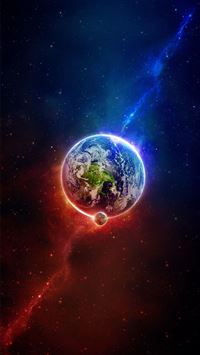 Space in the Earth iphone wallpaper ilikewallpaper com 200
