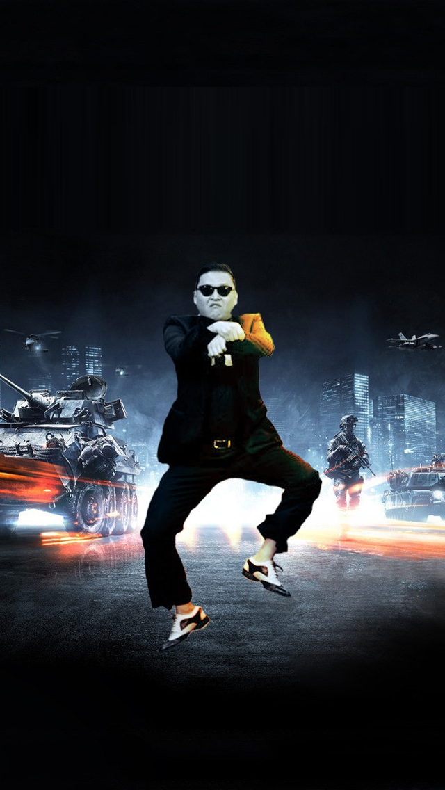 Gangnam Style Psy Battlefield iPhone wallpaper