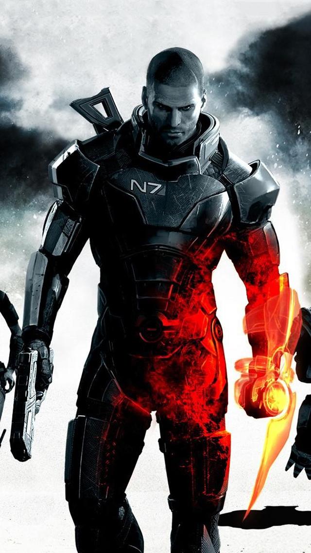 Mass Effect 3 Commander Shepard Iphone Wallpapers Free Download