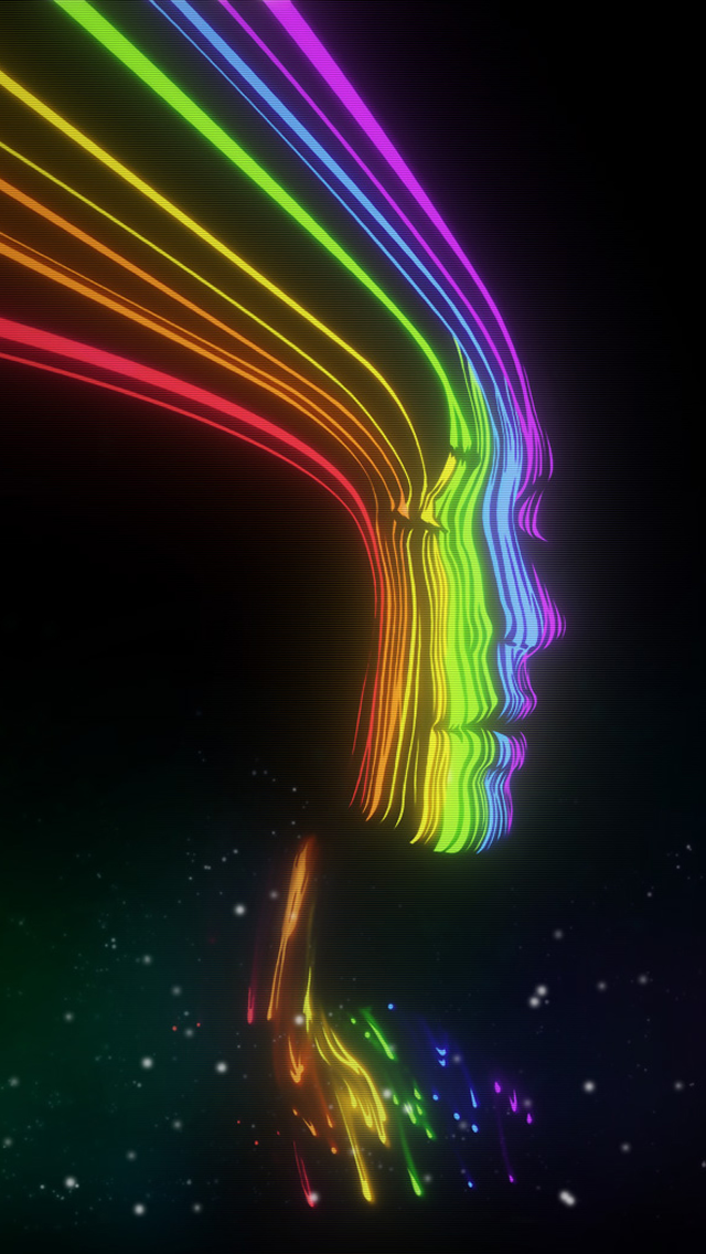 Rainbow Face iPhone wallpaper