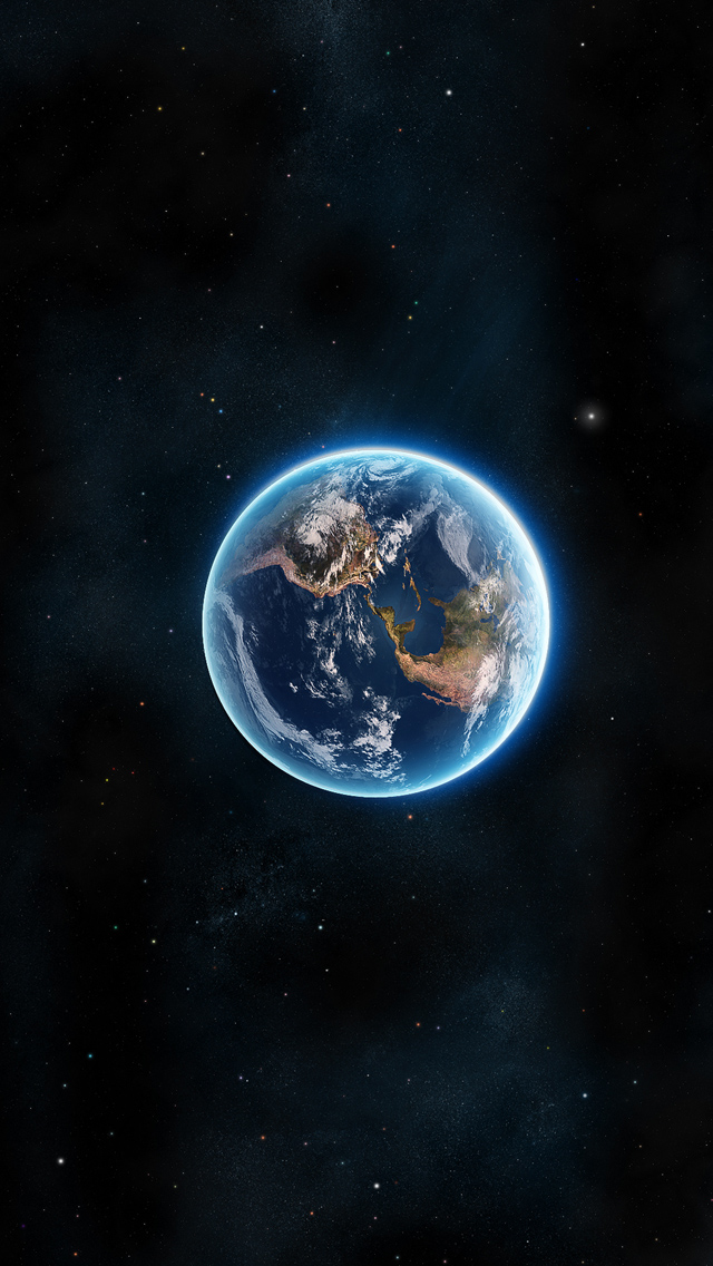 Earth Planet iPhone wallpaper