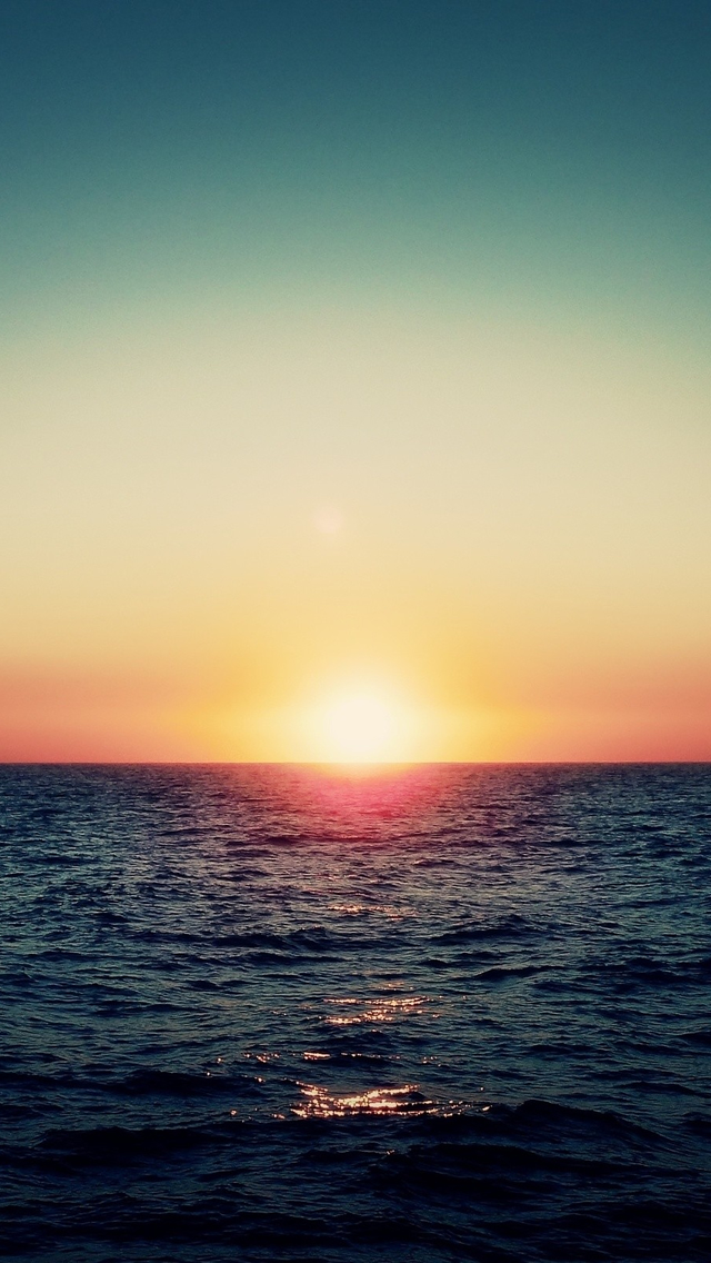Ocean Sunset iPhone wallpaper