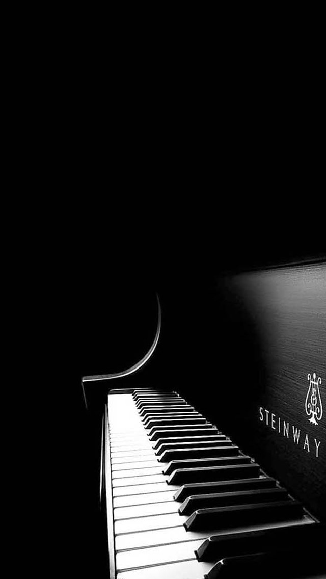 Black Piano iPhone wallpaper