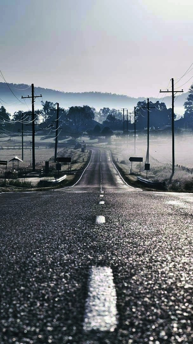 Road to Fog iPhone wallpaper