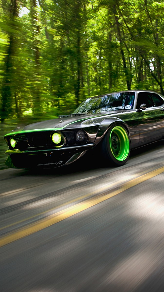 Green Car iPhone wallpaper