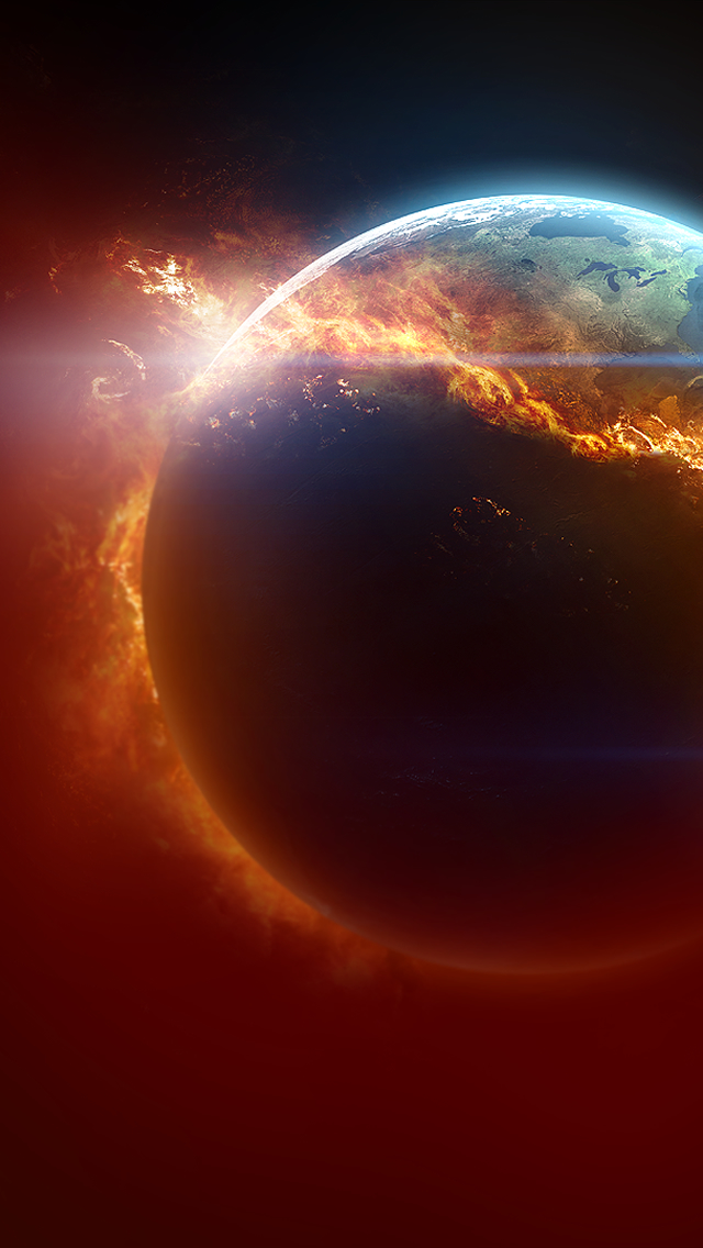 Fire Planet iPhone wallpaper