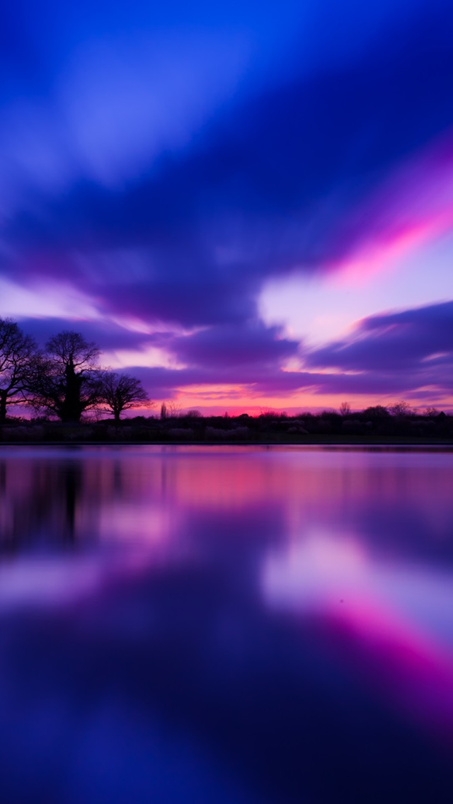 Purple Sunset iPhone wallpaper