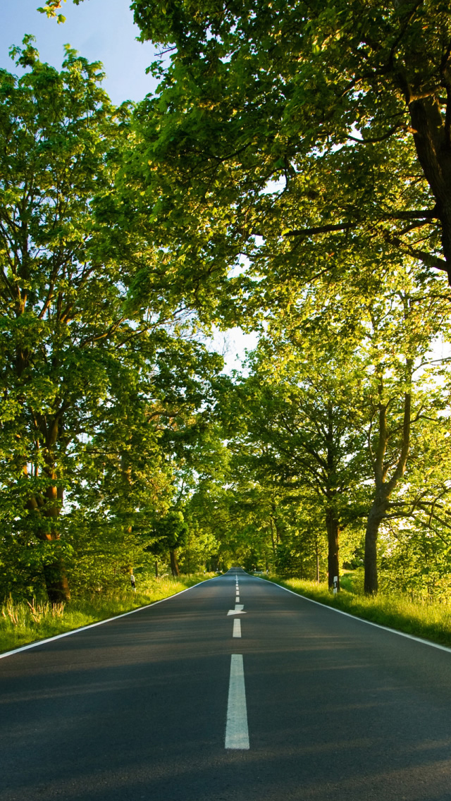 Road Summer iPhone wallpaper